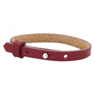 Cuoio armbanden leer 8 mm voor 12 mm cabochon Tawny port red