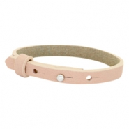 Cuoio armbanden leer 8 mm voor 12 mm cabochon Blush pink