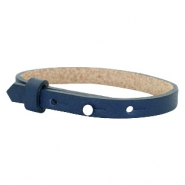 Cuoio armband leer kids 8mm voor 12mm cabochon Navy blue
