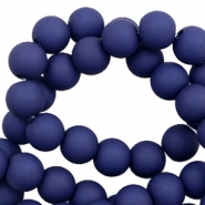 8 mm acryl kralen matt Dark blue