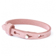 Cuoio armband leer kids 8mm voor 12mm cabochon Soft misty rose