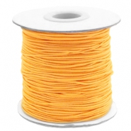 Gekleurd elastisch draad 1mm Sunflower orange