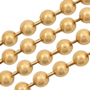 Basic Quality metaal ball chain 1.2mm Goud