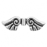 Basic Quality metalen kralen angel wing Antiek zilver