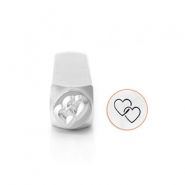 ImpressArt figuur stempels Interlocking Hearts 9.5mm Zilver