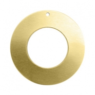 ImpressArt stamp labels bedel ring 25mm Brass Licht goud