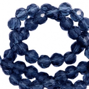 Top Facet kralen rond 4 mm Montana blue