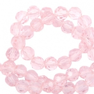 Top Facet kralen rond 6 mm Cradle pink