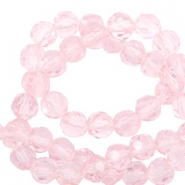 Top Facet kralen rond 4 mm Cradle pink