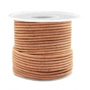 Voordeelrol DQ Leer rond 2 mm Dark vintage natural brown