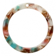 Resin hangers rond 35mm Mixed pink-blue