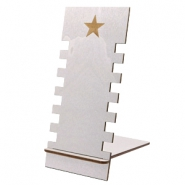 Sieraad display hout star Silver
