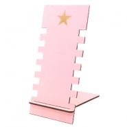 Sieraad display hout star Pink