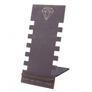 Sieraad display hout diamond Black