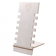 Sieraad display hout diamond Silver