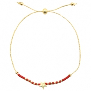 Trendy armbanden met ster Red-gold