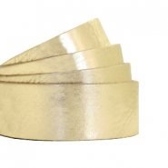 Plat 20 mm DQ leer metallic crunch Light gold