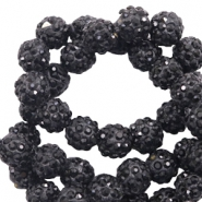 Strass kralen 6mm Black