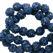 Strass kralen 10mm Dark blue