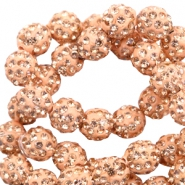 Strass kralen 6mm Peach