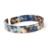 Trendy armbanden resin loose fit Blue mix