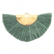 Kwastjes hanger Gold-army green