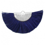 Kwastjes hanger Silver-dark midnight blue