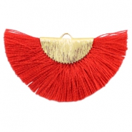 Kwastjes hanger Gold-ruby red