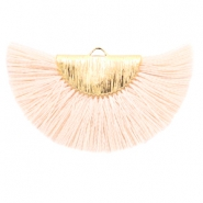 Kwastjes hanger Gold-light peach