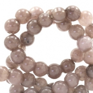 4 mm natuursteen kralen rond Jade Dark taupe brown