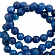 4 mm natuursteen kralen agaat Marine blue