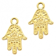 Basic Quality metalen bedels Hamsa hand Goud