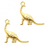 Basic Quality metalen bedels dino Goud