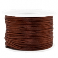 Macramé draad 1.5mm satin Chocolate brown