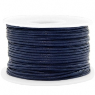 Waxkoord 1.5mm Dark blue