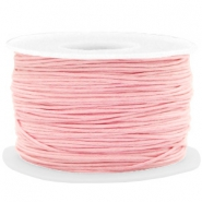 Waxkoord 1mm Powder pink