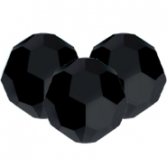 Swarovski Elements facet kralen 8mm Jet black
