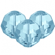 Swarovski Elements facet kralen 8mm Aquamarine blue