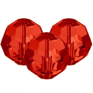 Swarovski Elements facet kralen 8mm Light siam red