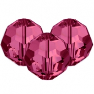 Swarovski Elements facet kralen 8mm Fuchsia