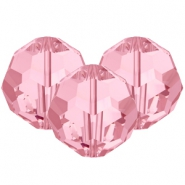 Swarovski Elements facet kralen 8mm Light rose