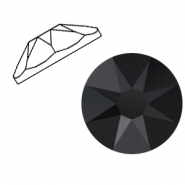 Swarovski Elements 2088-SS34 flat back (7mm) Jet black (unfoiled)
