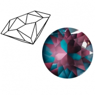Swarovski Elements 1088-SS 39 puntsteen (8mm) Crystal burgundy DeLite