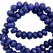 4 mm natuursteen kralen disc facet geslepen Dark blue