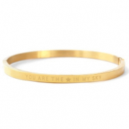 "Roestvrij stalen (RVS) Stainless steel armbanden ""YOU ARE MY STAR IN THE SKY"" Gold"