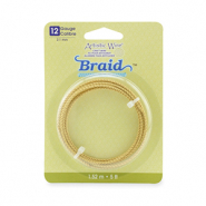 Artistic Wire 12 Gauge braid round Tarnish Resistant Brass