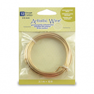 Artistic Wire 12 Gauge Tarnish Resistant Brass