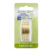 Artistic Wire 18 Gauge Tarnish Resistant Brass