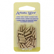 Artistic Wire 12 Gauge crimp tubes 10mm Brass Colour