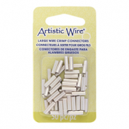 Artistic Wire 12 Gauge crimp tubes 10mm Tarnish Resistant Silver